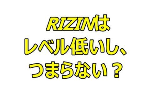 RIZINはレベル低いし、つまらない?UFCとの差は大きい?
